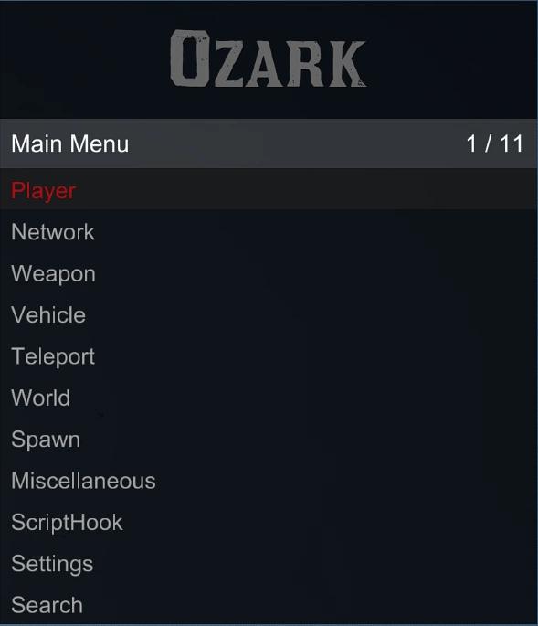 OZARK MENU 2